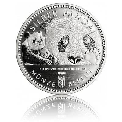 1 Unze Silber Panda Münze Berlin 2018