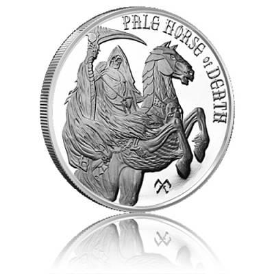 1 oz Silber Four Horsemen of the Apocalypse - Pale Horse of Death 4. Motiv
