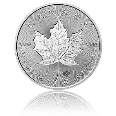 1 Unze Silbermünze Maple Leaf Incuse 2018