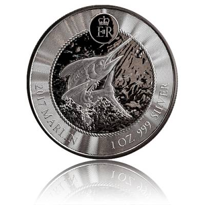 1 oz Silbermünze Cayman Islands Marlin Speerfisch (2018)