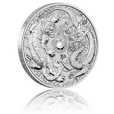 1 oz Silber Australien Perth Mint Dragon & Tiger (2018)