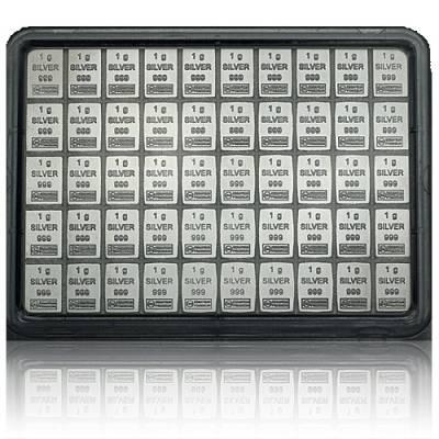 50 x 1gramm Silber Tafelbarren