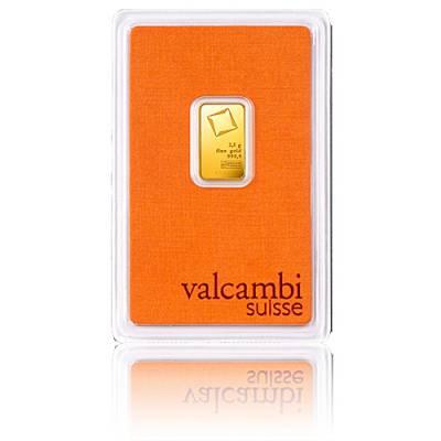2,5 gramm Goldbarren Valcambi 999,9/1000