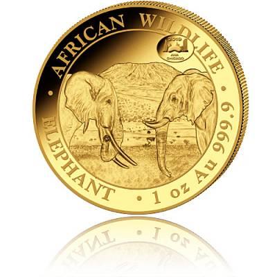 Somalia Elefant 1 Unze Gold (2019)