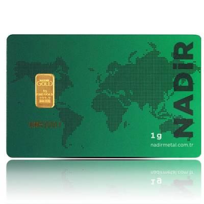 1 gramm Goldbarren - Nadir 999,9/1000