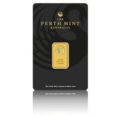 5 gramm Goldbarren Perth Mint - Känguru 999,9/1000