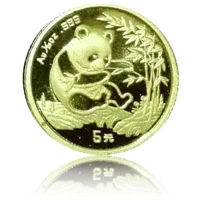 China Panda 1/20 Unze Gold (1994) in Kapsel