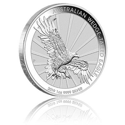 1 Unze Silbermünze Australien Wedge Tailed Eagle (2019)
