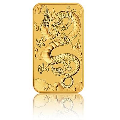 1 oz Goldmünze Perth Mint - Rectangular Dragon 2019