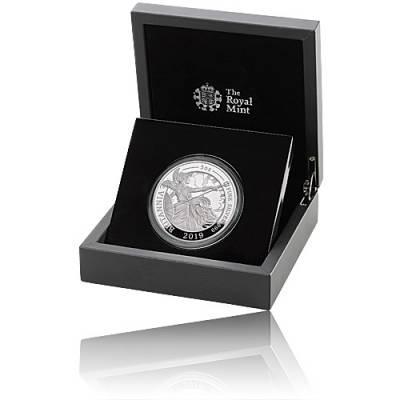 Silbermünze 5 oz Britannia PP 2019