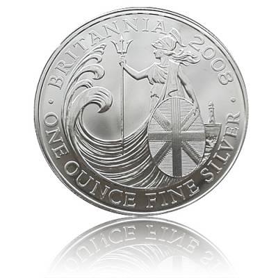 Britannia 1 Unze Silber (2008)