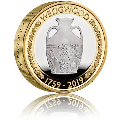Silbermünze 260th Anniversary of Wedgwood Proof Piedfort 24 gramm Silber (2019)