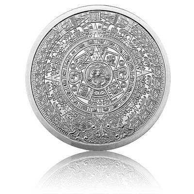 5 oz Silbermünze Aztec Calendar Golden State Mint