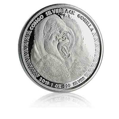 1 oz Silber Silberrückengorilla Kongo (2019)