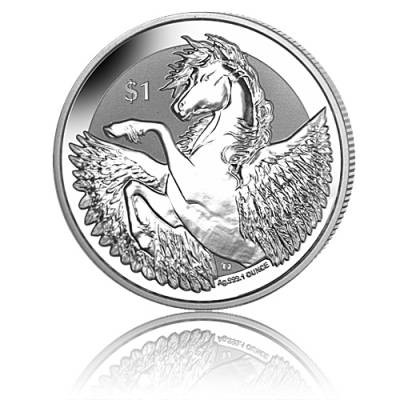 1 oz Silbermünze British Virgin Islands Pegasus Frosted Reverse Proof 2019