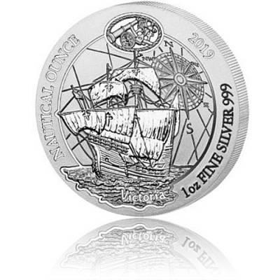 1 Unze Silbermünze Ruanda Nautical Ounce Serie -  Victoria 2019