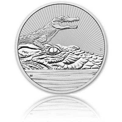 2 Unzen Silbermünze  Australien Piedfort Krokodil 2019 Next Generation - 2. Ausgabe