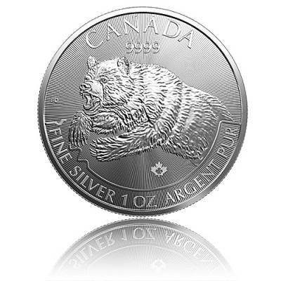 1 Unze Silbermünze Canada Predator Serie - Grizzly 2019
