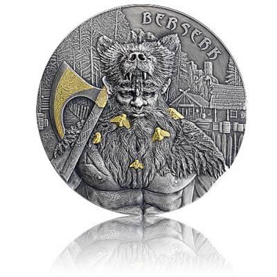 2 Unzen Silbermünze Krieger Berserker 10 Mark (2019) 1. Ausgabe