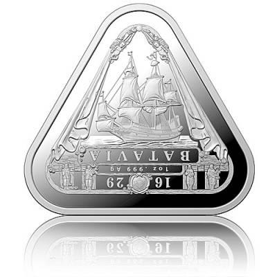 1 oz Silbermünze Batavia-Schiffswracks - erste dreieckige Anlagemünze 2019