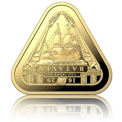 1 oz Goldmünze Batavia-Schiffswracks - erste dreieckige Anlagemünze 2019