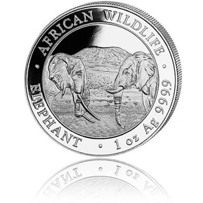 Somalia Elefant 1 Unze Silber (2020)