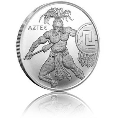 1 Unze Silber The Aztec - Warrior Series 2. Motiv Golden State Mint