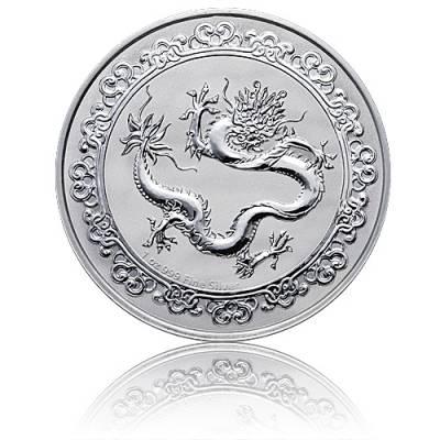 1 Unze Silbermünze Celestial Animals 1. Ausgabe The Green Dragon-Himmlische Tiere (2019)