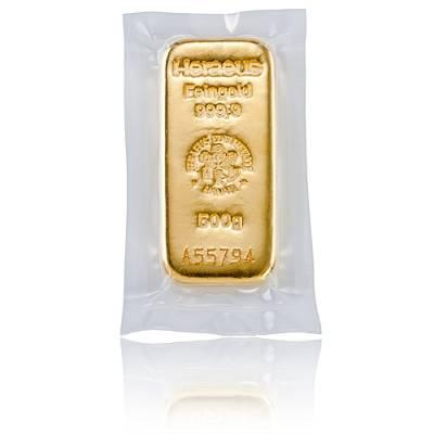500 gramm Heraeus - Goldbarren 999,9/1000