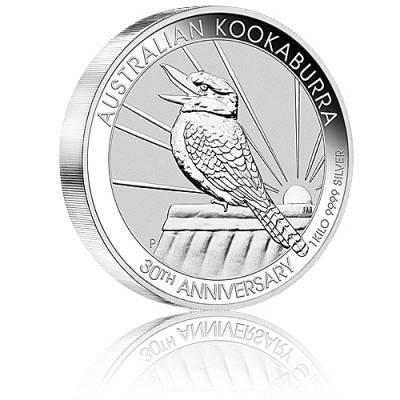 Austral. Kookaburra 1kg 999/1000 Silber 2020