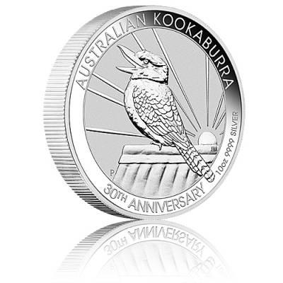 Austral. Kookaburra 10 Unzen 999/1000 Silber 2020