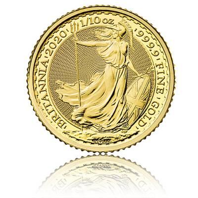 1/10 Unze Goldmünze Britannia 2020