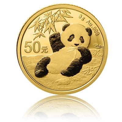 China Panda 3 gramm Gold (2020)