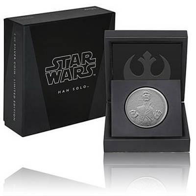 1 Unze Silbermünze PP Star Wars Classic Han Solo 2016 - 2. Motiv