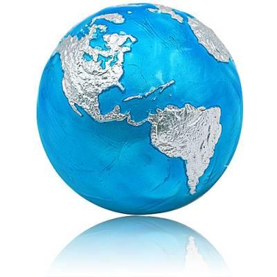 Silbermünze 3 oz Blauer Planet Erde Kugelförmig 2020