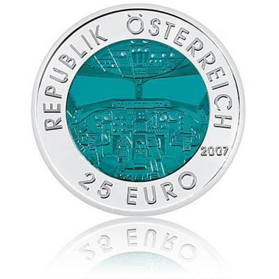 Silbermünze 25 Euro Niob Faszination Technik - Österreichische Luftfahrt Österreich 2007