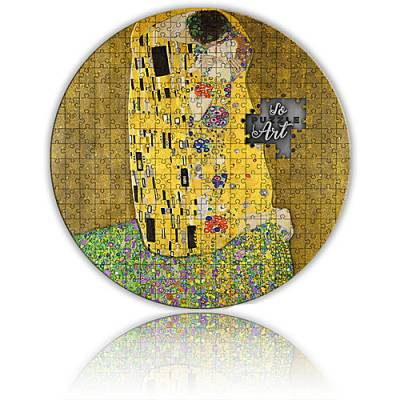 Silbermünze 3 oz Gustav Klimt's legendary masterpiece The Kiss Micropuzzle 2. Ausgabe PP 2020