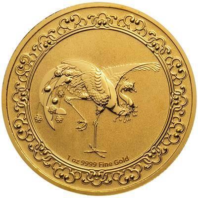 1 Unze Goldmünze Celestial Animals 3. Ausgabe The Red-Phönix-Himmlische Tiere (2020)