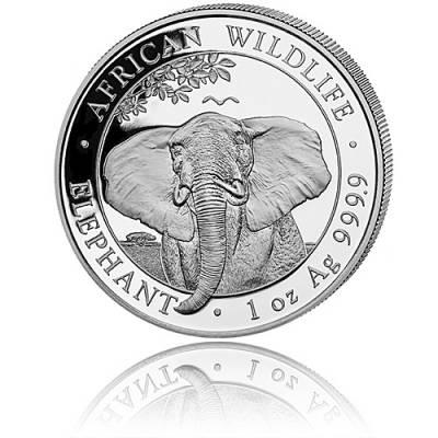 Somalia Elefant 1 Unze Silber (2021)
