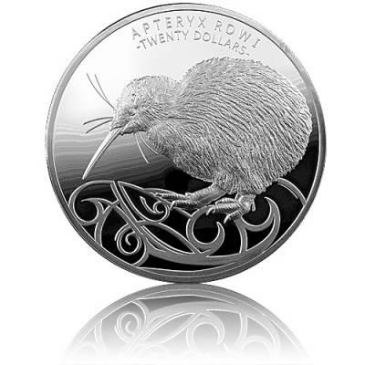 Silbermünze 1 kg Apteryx Rowi Kiwi PP 2020