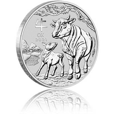 1kg Silbermünze Australien Lunar III Ochse (2021)