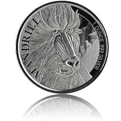 Silbermünze 1 oz Mandrill 2020
