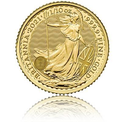1/10 Unze Goldmünze Britannia 2021