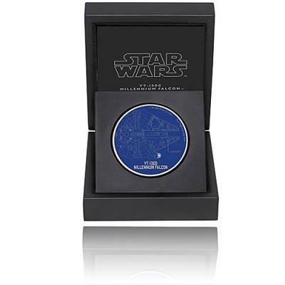 1 Unze Silbermünze Star Wars Ships Millennium Falke 2017 - 1. Motiv