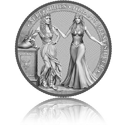 10 oz Silbermünze Allegories Italia & Germania 50 Mark (2020) 3. Ausgabe