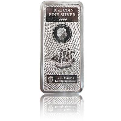 10 oz Silber Cook Islands 10 $ Münzbarren 2021