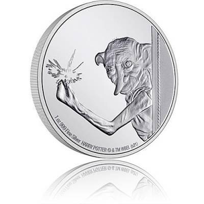1 oz Silbermünze Dobby der Hauself - Harry Potter Classic 7. Motiv 2021