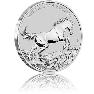 Silbermünze 1 oz Australian Brumby 2021