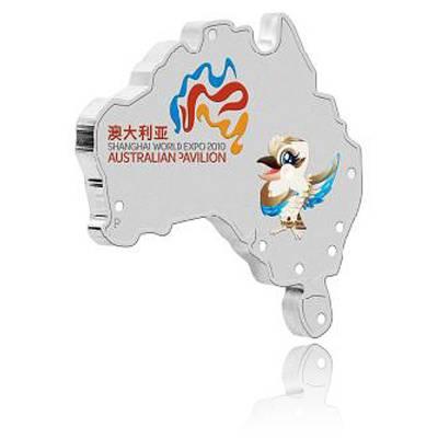 Shanghai Kookaburra 2010 1 Oz Silber -Shaped Coin