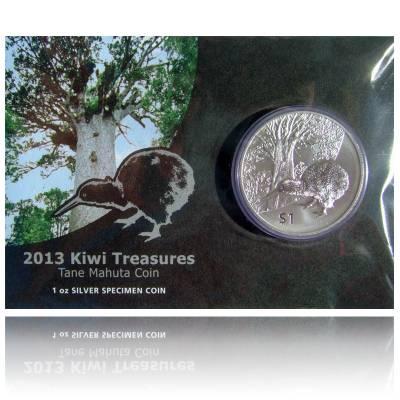 Neuseeland Kiwi  1 Unze Silber  Blister (2013)